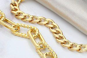 Cadenas de Chapa de oro